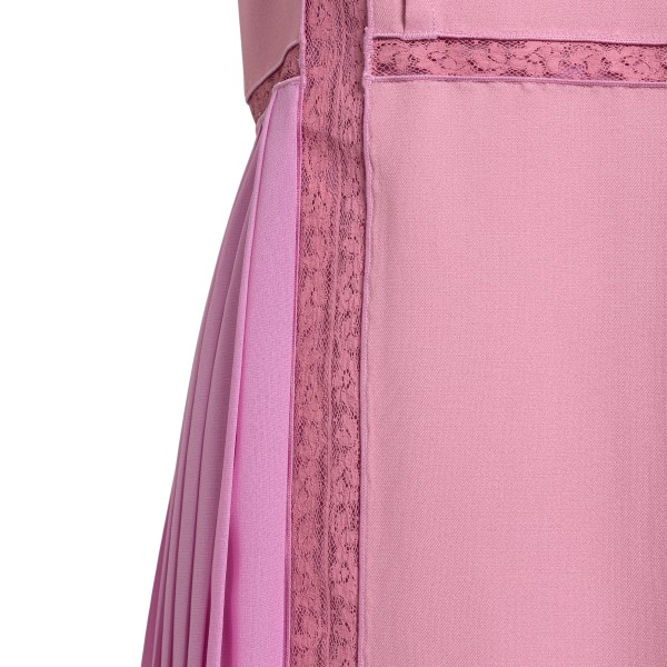Mauve midi dress with lace details                                                                                                                     CHLOE'