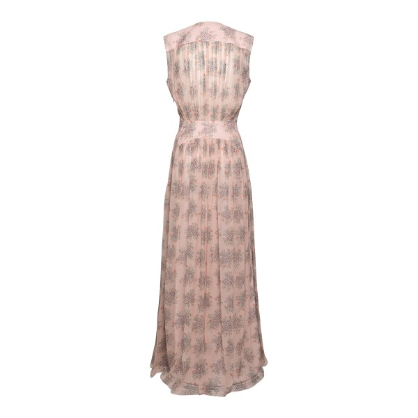 Long pink floral dress                                                                                                                                 CHLOE'
