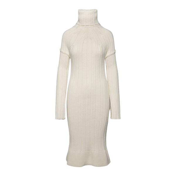 Midi dress in white knit                                                                                                                               SPORTMAX