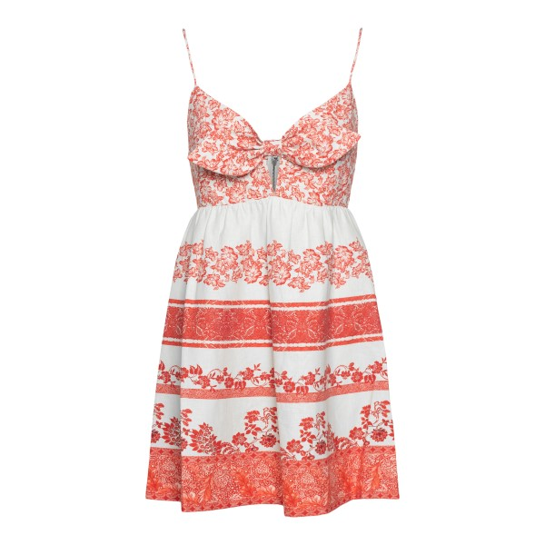 Short white and red dress with bow                                                                                                                     ALICE+OLIVIA