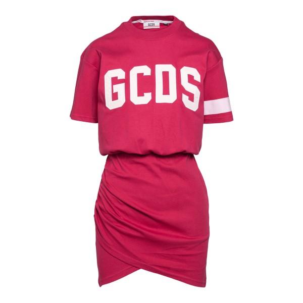 Short fuchsia dress with logo                                                                                                                         Gcds CC94W021016 back