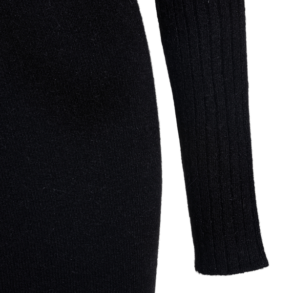 Short black dress with logo embroidery                                                                                                                 GCDS