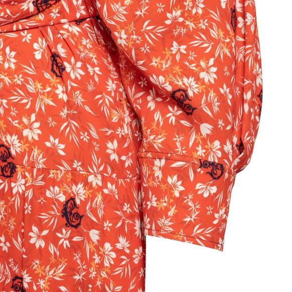 Abito lungo arancione a fantasia floreale                                                                                                              CHLOE'                                             CHLOE'