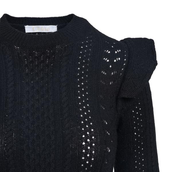 Long black knitted dress                                                                                                                               CHLOE'