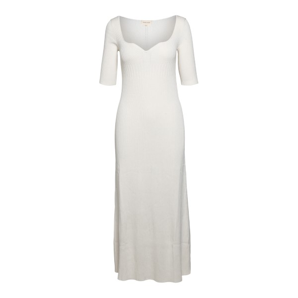Long white ribbed dress                                                                                                                                LOULOU STUDIO