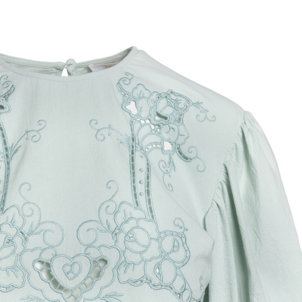 Short mint green dress with embroidery                                                                                                                 SEE BY CHLOE