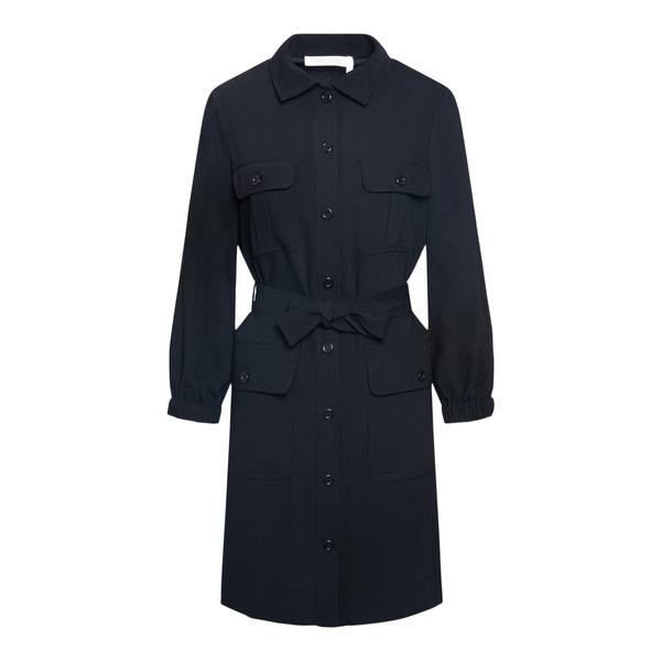 Crepe midi dress                                                                                                                                      See By Chloe CHS21WRO01 back