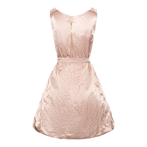 Short pink dress with wrinkled effect                                                                                                                  PATOU