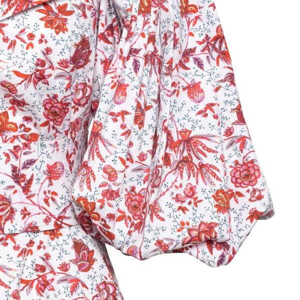 Short floral dress with curls                                                                                                                          PATOU