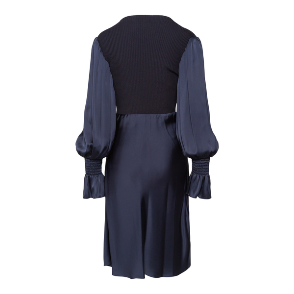 Blue midi dress with knitted top                                                                                                                       PATOU
