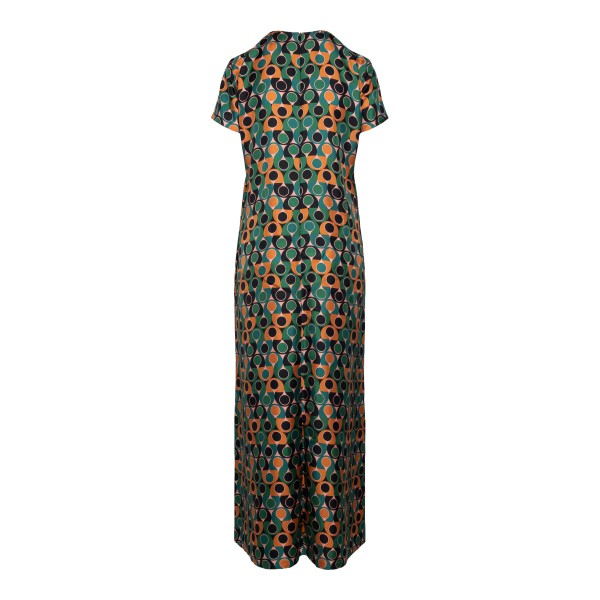Long multicolored dress with geometric print                                                                                                           LA DOUBLE J