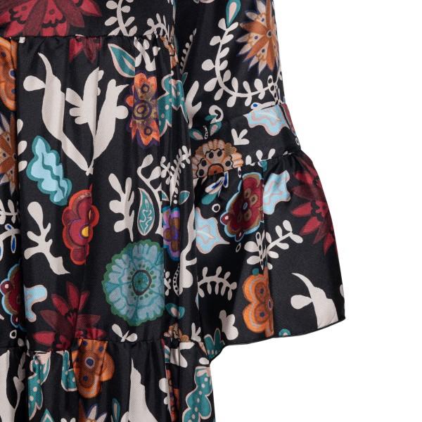 Black floral midi dress                                                                                                                                LA DOUBLE J
