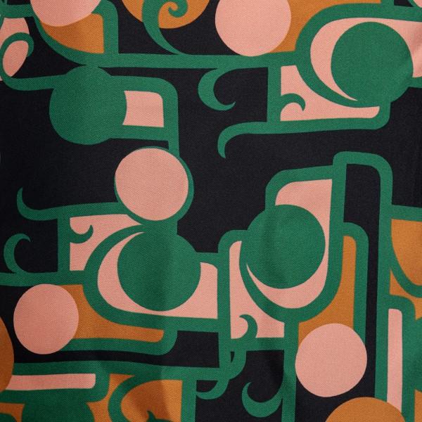 Abito corto multicolore con pattern astratto                                                                                                           LA DOUBLE J LA DOUBLE J