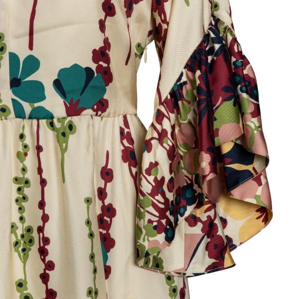 Abito lungo multicolore con stampa floreale                                                                                                            LA DOUBLE J                                        LA DOUBLE J