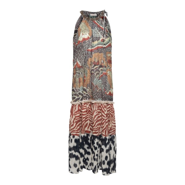 Long multicolored patterned dress                                                                                                                     Anjuna ELENA back