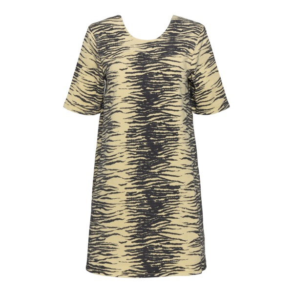 Short yellow brindle dress                                                                                                                             GANNI