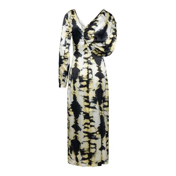 Long dress with asymmetrical sleeves                                                                                                                   GANNI