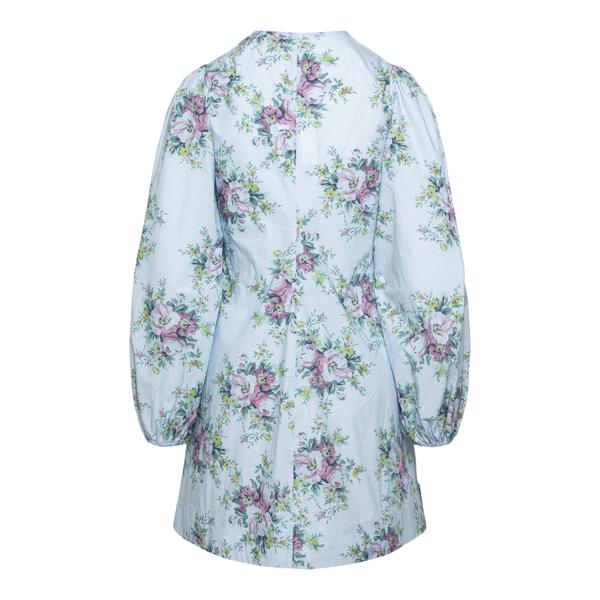 Short blue dress with flowers                                                                                                                          GANNI