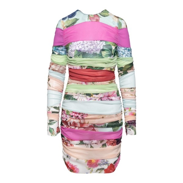 Short fitted dress with colored bands                                                                                                                 Dolce&gabbana F6K7ZT back