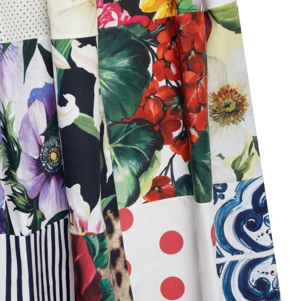 Floral patchwork midi dress                                                                                                                            DOLCE&GABBANA