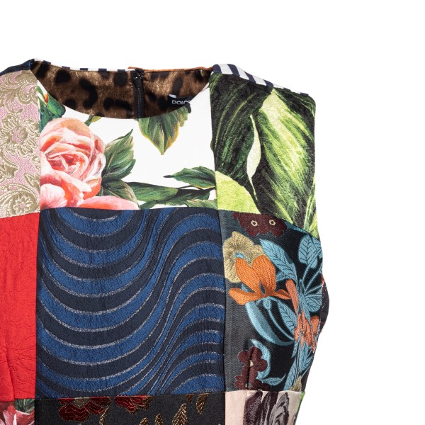Patchwork-style multicolored midi dress                                                                                                                DOLCE&GABBANA