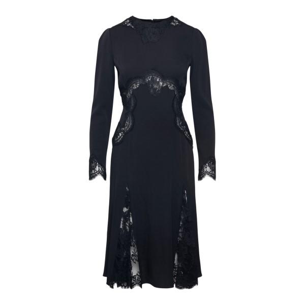 Black midi dress with lace                                                                                                                             DOLCE&GABBANA
