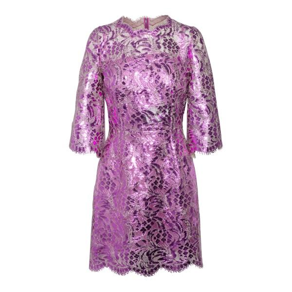Short fuchsia lace dress                                                                                                                               DOLCE&GABBANA