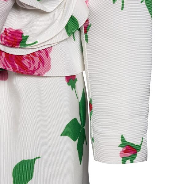 Abito corto bianco con rose                                                                                                                            ALESSANDRA RICH                                    ALESSANDRA RICH