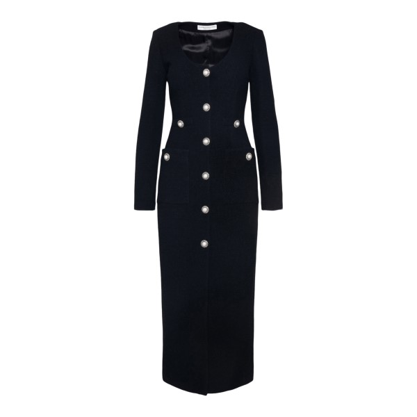 Long black dress with silver buttons                                                                                                                   ALESSANDRA RICH