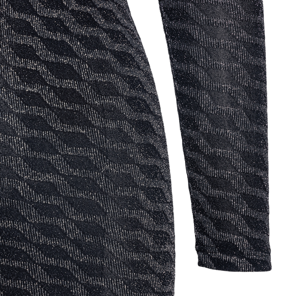 Black fitted dress with lurex pattern                                                                                                                  GCDS