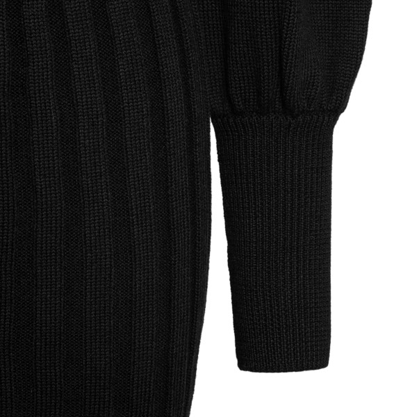 Short black dress with puff sleeves                                                                                                                    VIOLANTE NESSI