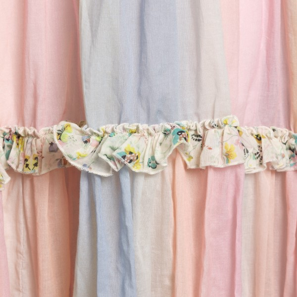 Long multicolored dress with curls                                                                                                                     ANJUNA