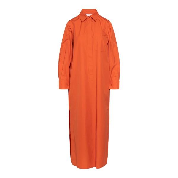 Long orange shirt dress                                                                                                                               Max Mara ODILE back