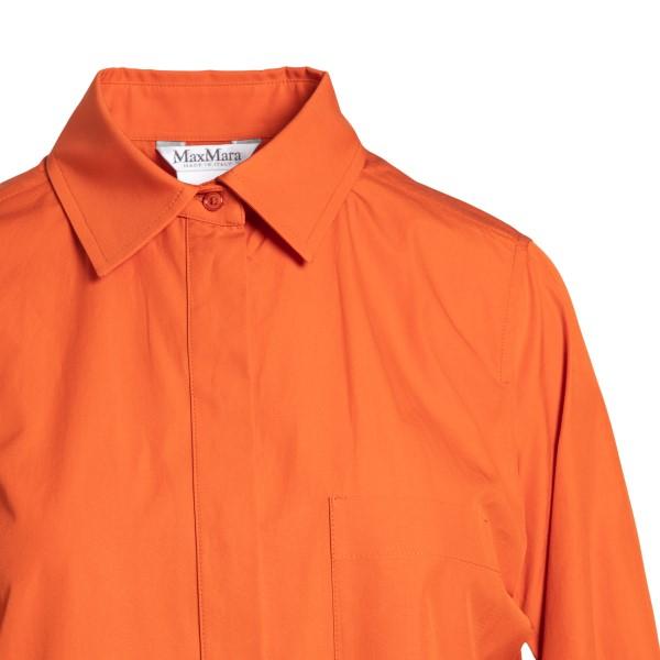 Abito lungo a chemisier arancione                                                                                                                      MAX MARA                                           MAX MARA