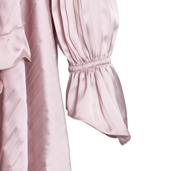 Short pink dress with ruffles                                                                                                                          OFF WHITE