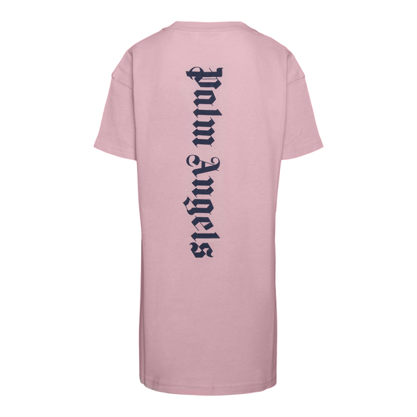 Abito a T-shirt rosa con logo                                                                                                                          PALM ANGELS                                        PALM ANGELS
