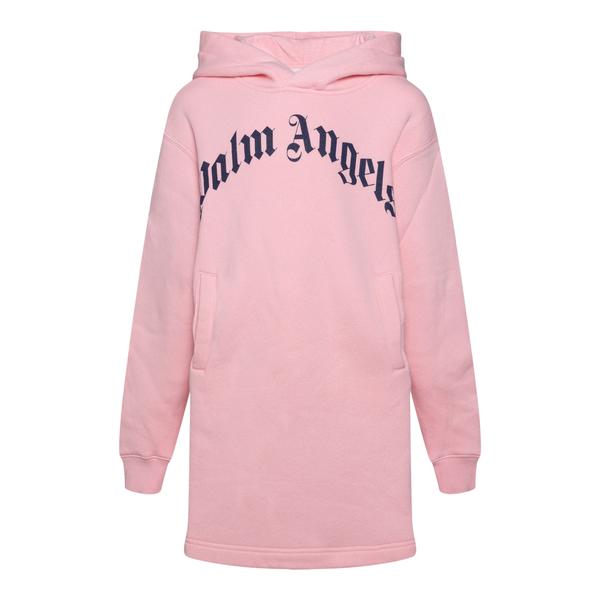 Felpa lunga rosa con logo                                                                                                                              PALM ANGELS                                        PALM ANGELS