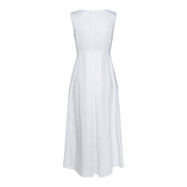 White midi dress with pleats                                                                                                                           MAX MARA S