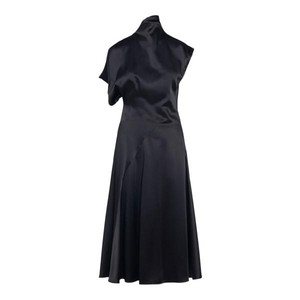 Black asymmetrical midi dress                                                                                                                          SPORTMAX