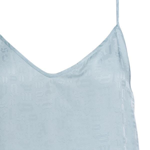 Light blue midi dress with logo pattern                                                                                                                PALM ANGELS