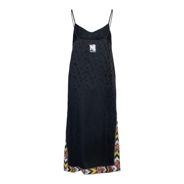 Black midi dress with multicolored band                                                                                                                PALM ANGELS X MISSONI