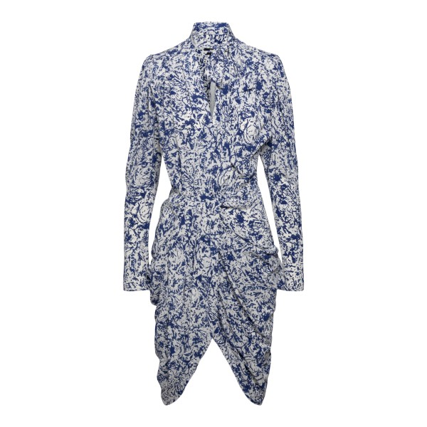 Short white patterned dress                                                                                                                           Isabel Marant RO1954 back