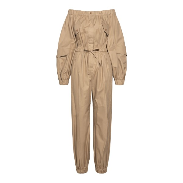 Camel-colored jumpsuit with bare shoulders                                                                                                            Max Mara ROMANA back