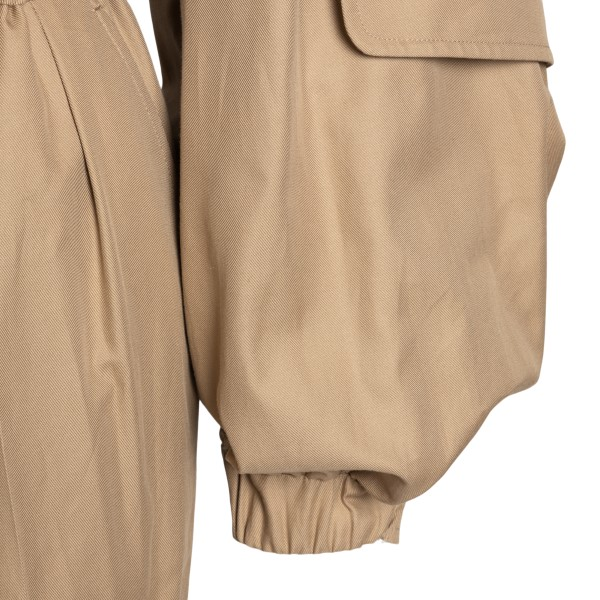 Camel-colored jumpsuit with bare shoulders                                                                                                             MAX MARA