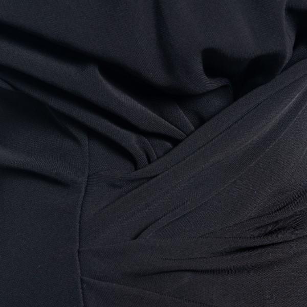 Black midi dress with gathering                                                                                                                        DSQUARED2