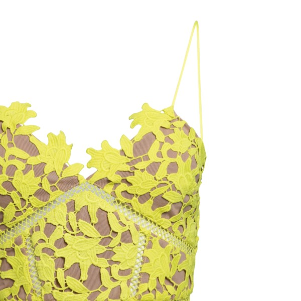 Short yellow lace dress                                                                                                                                SELF PORTRAIT