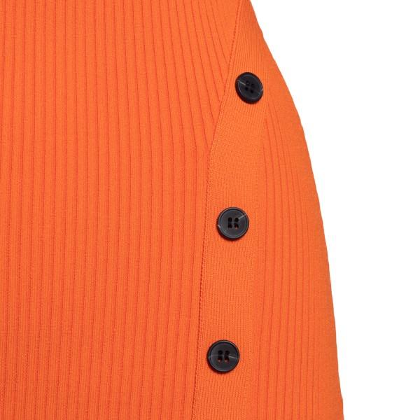 Long orange fitted dress                                                                                                                               SELF PORTRAIT