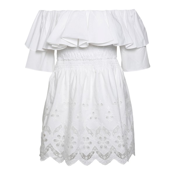 White top in long design with embroidery                                                                                                              Self Portrait SS21105 back