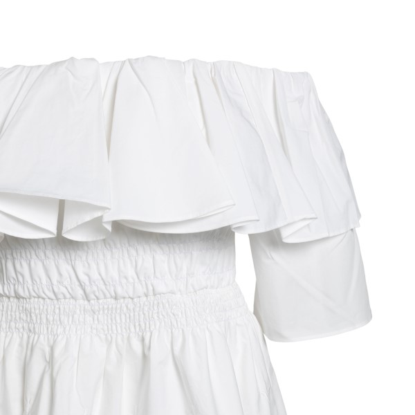 White top in long design with embroidery                                                                                                               SELF PORTRAIT