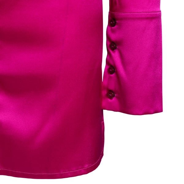 Short fuchsia shirt dress                                                                                                                              ANDAMANE